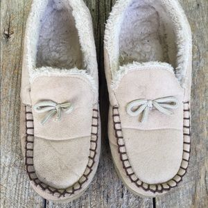 Shoes - Beige House Shoes With Rubber Soles 10/11.
